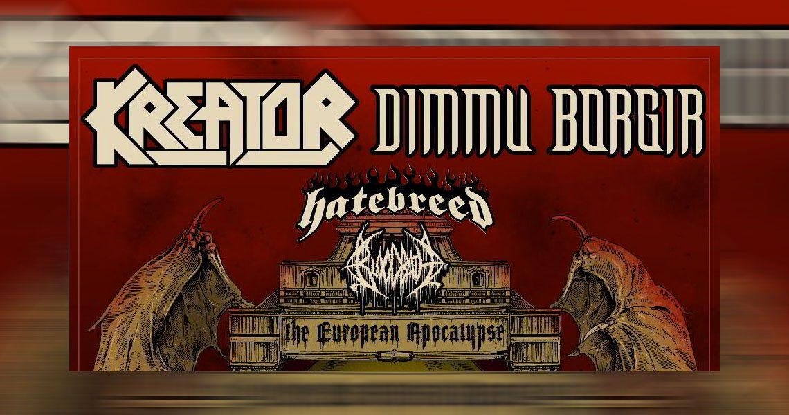 European Apocalypse Tour mit Kreator und Dimmu Borgir