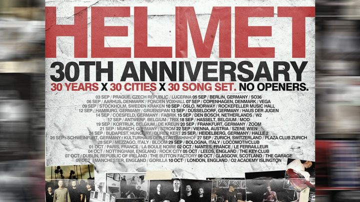 """HELMET – """"30 Years"""