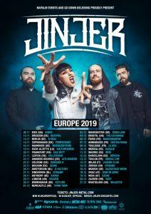 Jinjer - Europa-Tour 2019