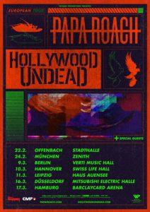 Papa Roach und Hollywood Undead - Tour 2020